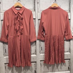 Vila Clothes Pleated Dress